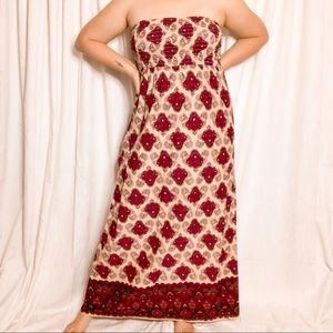 OLD NAVY boho paisley sleeveless maxi dress